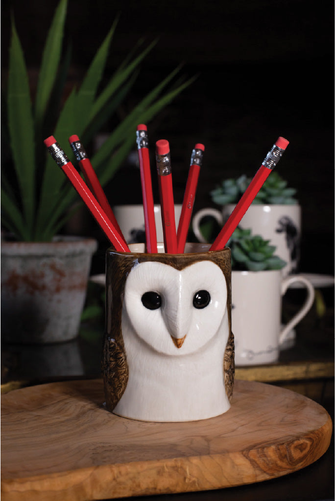 Ceramic Owl Pencil Pot
