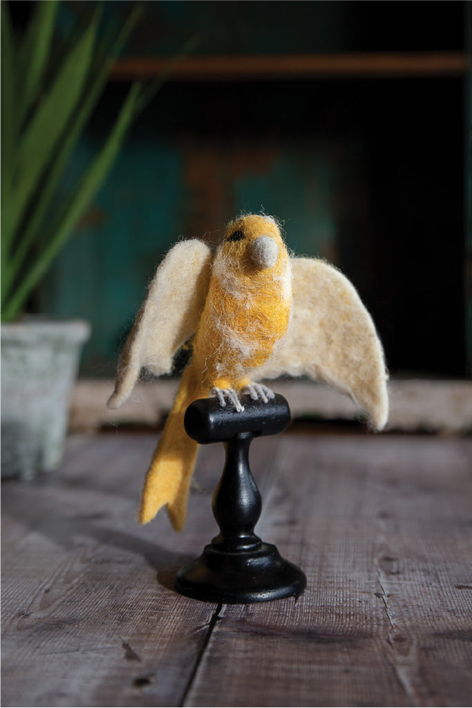 Felted Yellow Norwich Canary