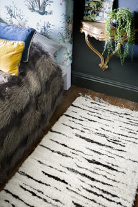 Wool Rug - Cream and brown