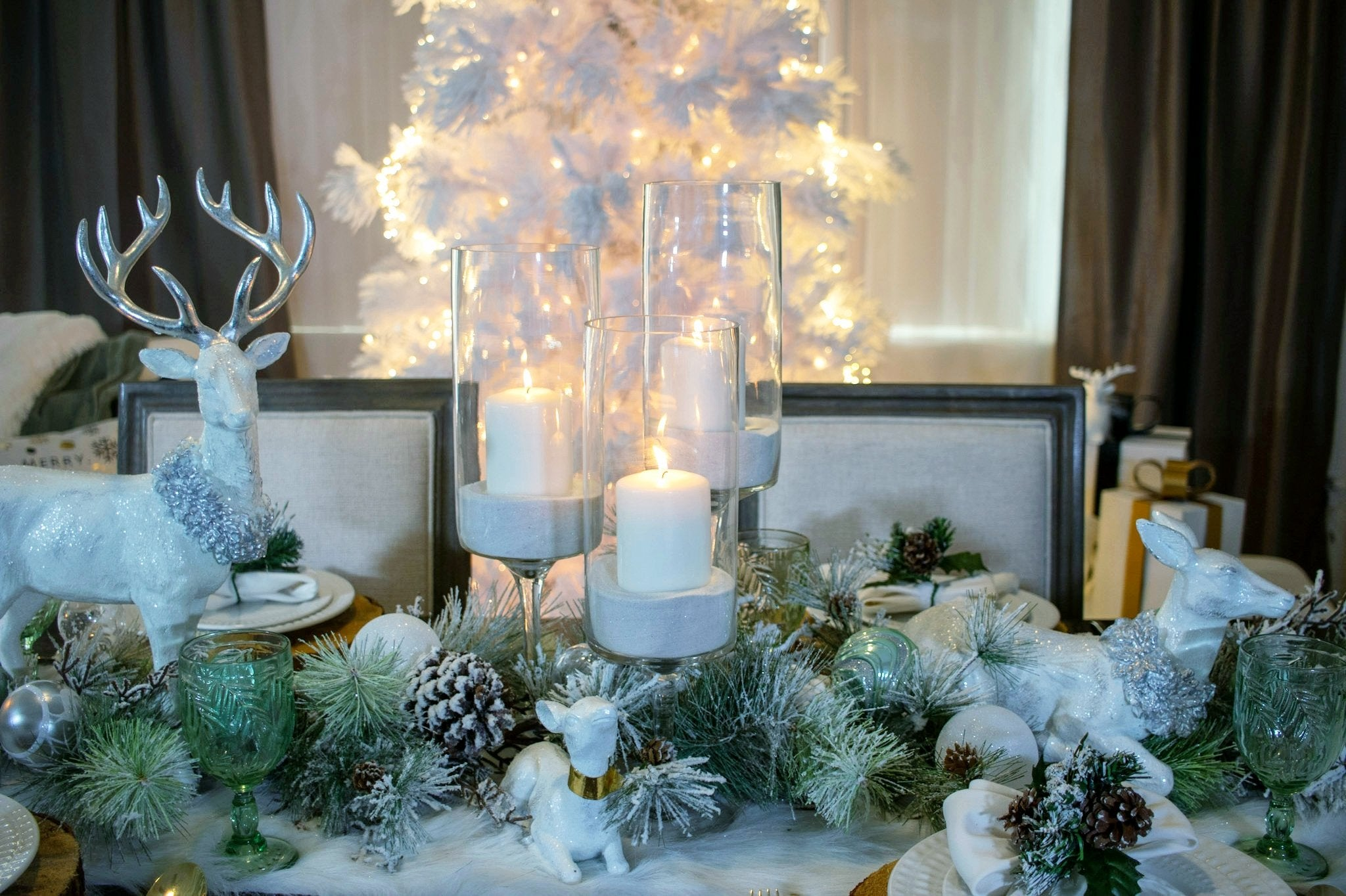 Winter Snowfall Tablescape Set Series 500.W