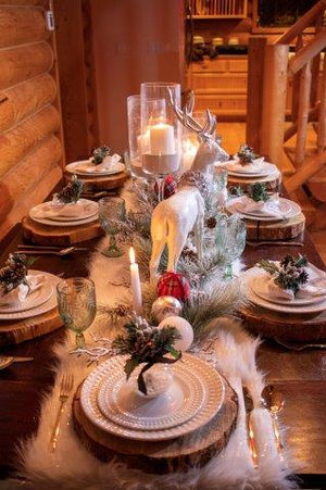 Custom Winter Snowfall Tablescape Set Series 500.CW