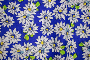 Face Covering Blue with White Daisy's