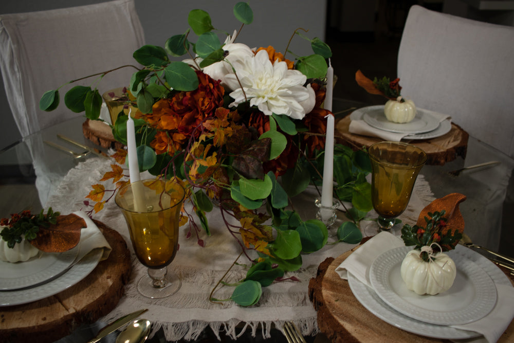 Peace of Mind Fall Round Tablescape Set Series 200.R
