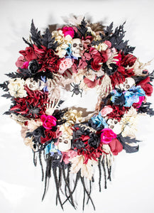 Elegant Skull Halloween Wreath Series 700.H