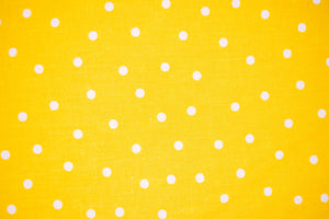 Face Covering Yellow with White Polka Dots