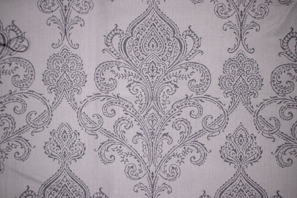 Face Coverings Gray Damask