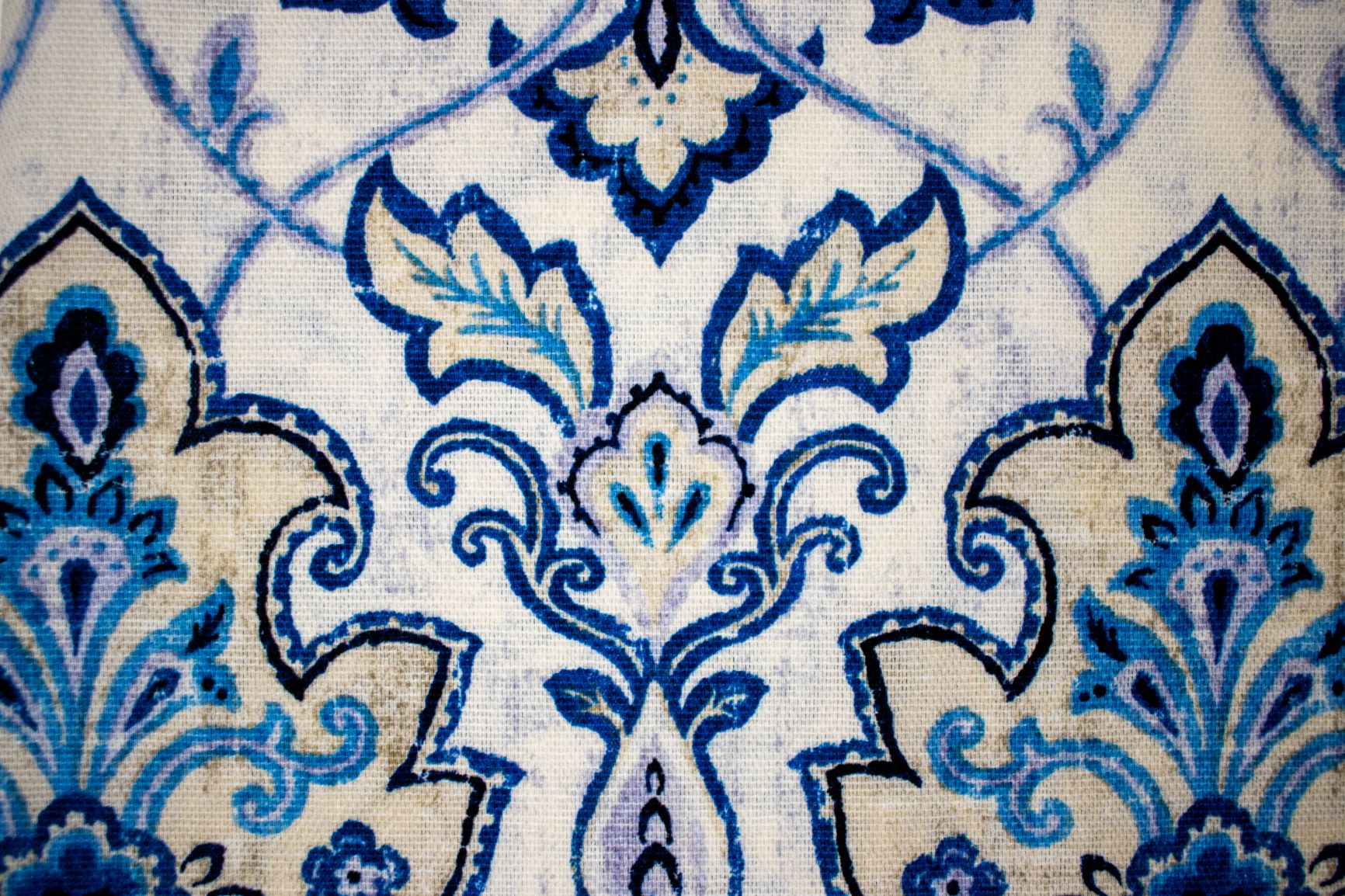 Face Covering Blue Damask