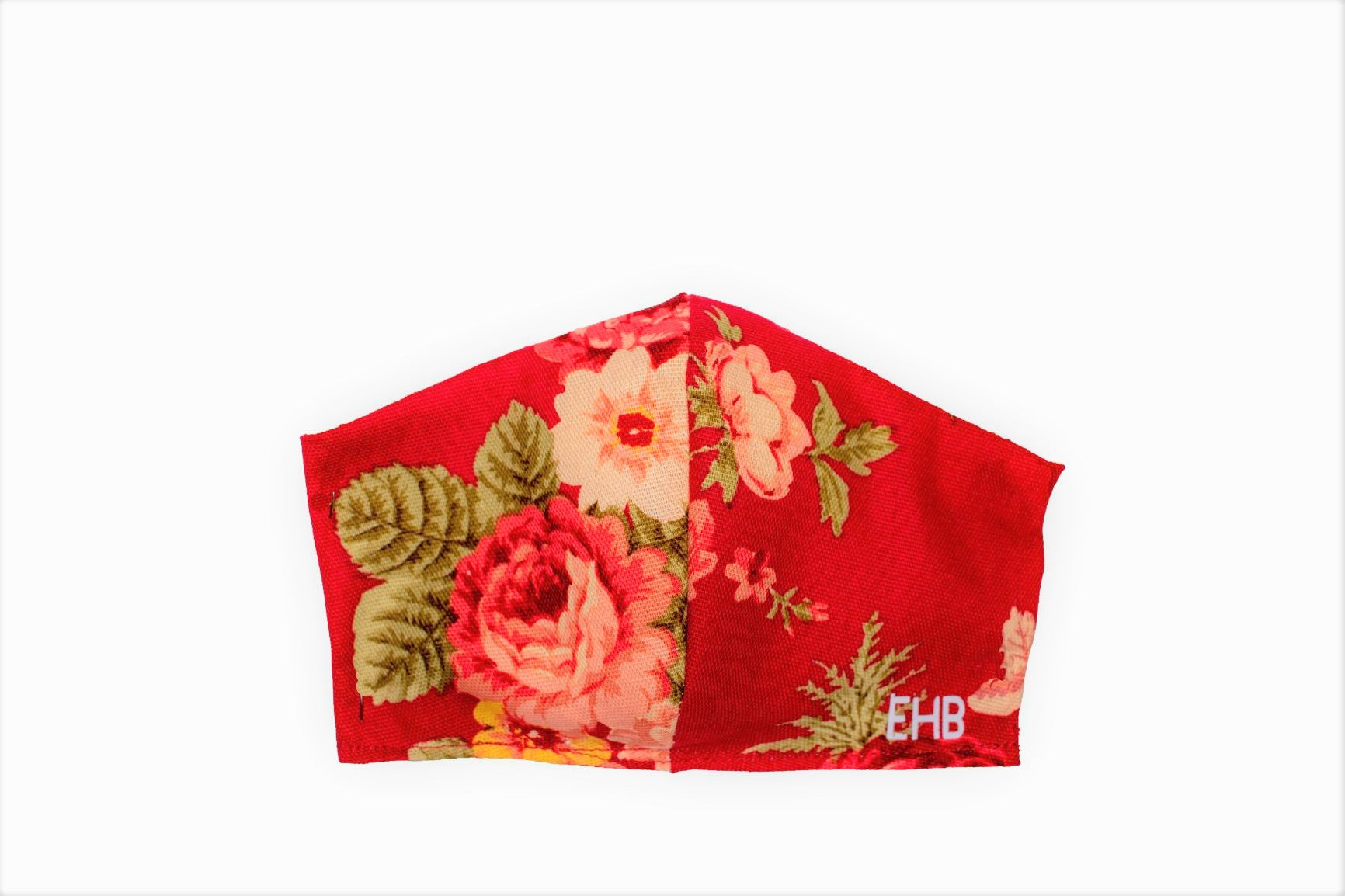 Face Covering Red with Floral