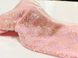 Face Coverings Pink Sequin
