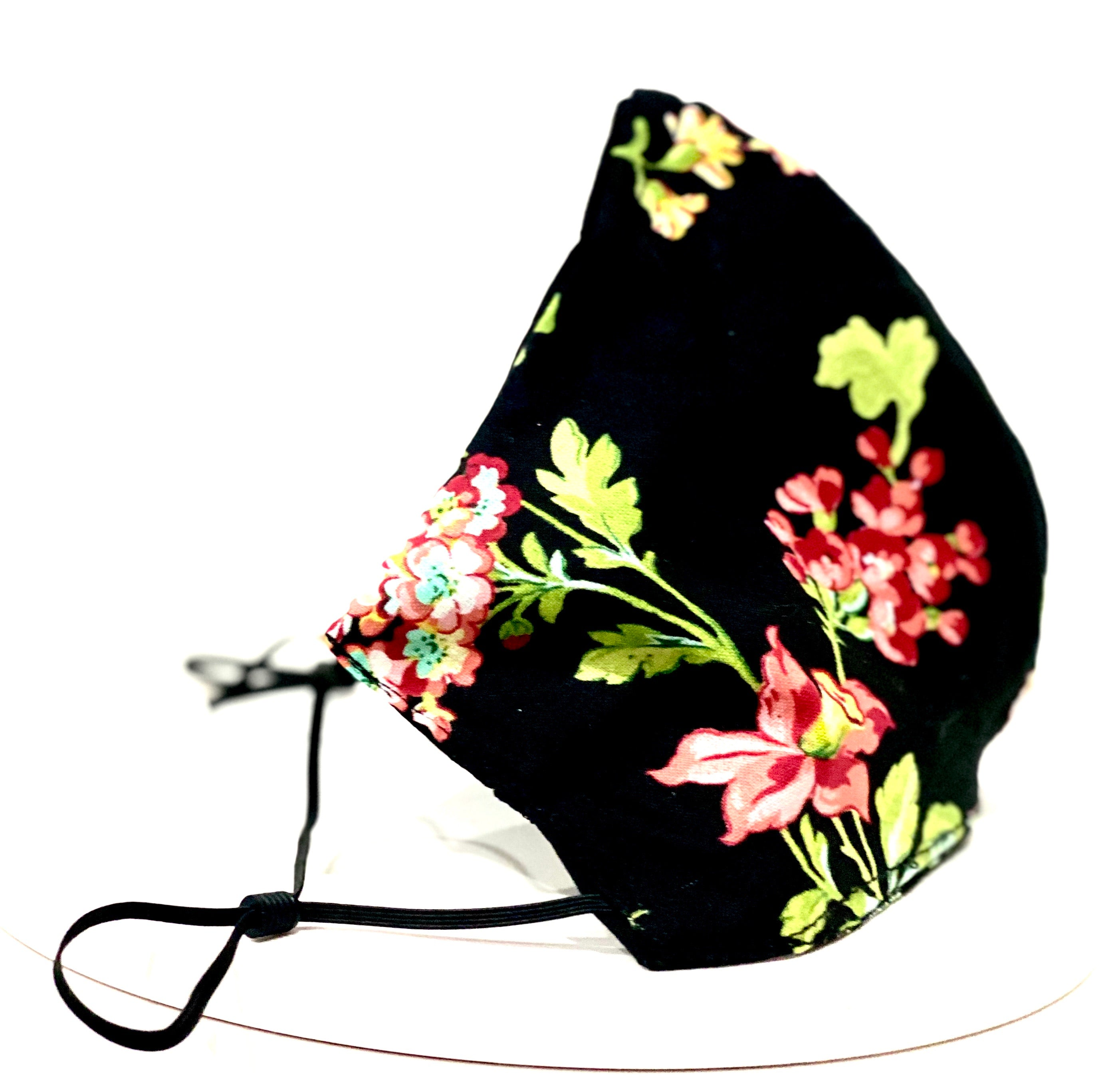 Face Covering Black with Floral