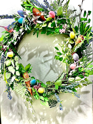 Wild Flower Easter Wreath