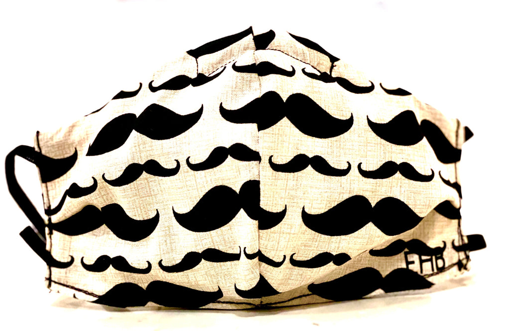 Face Coverings Cream Mustache Design