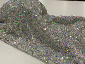 Face Coverings Silver Sequin