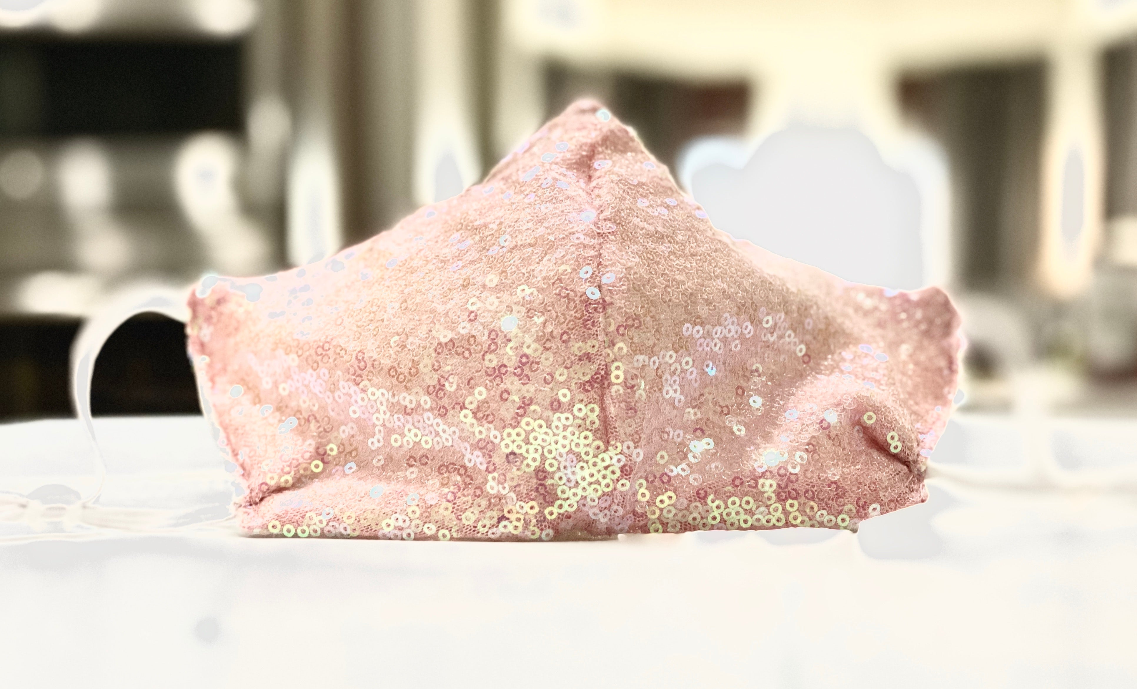 Face Coverings Pink Glitter