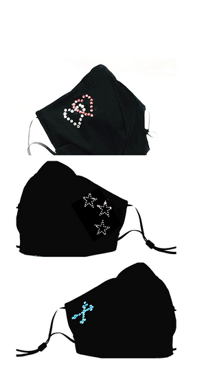 Face Coverings with Rhinestone designs