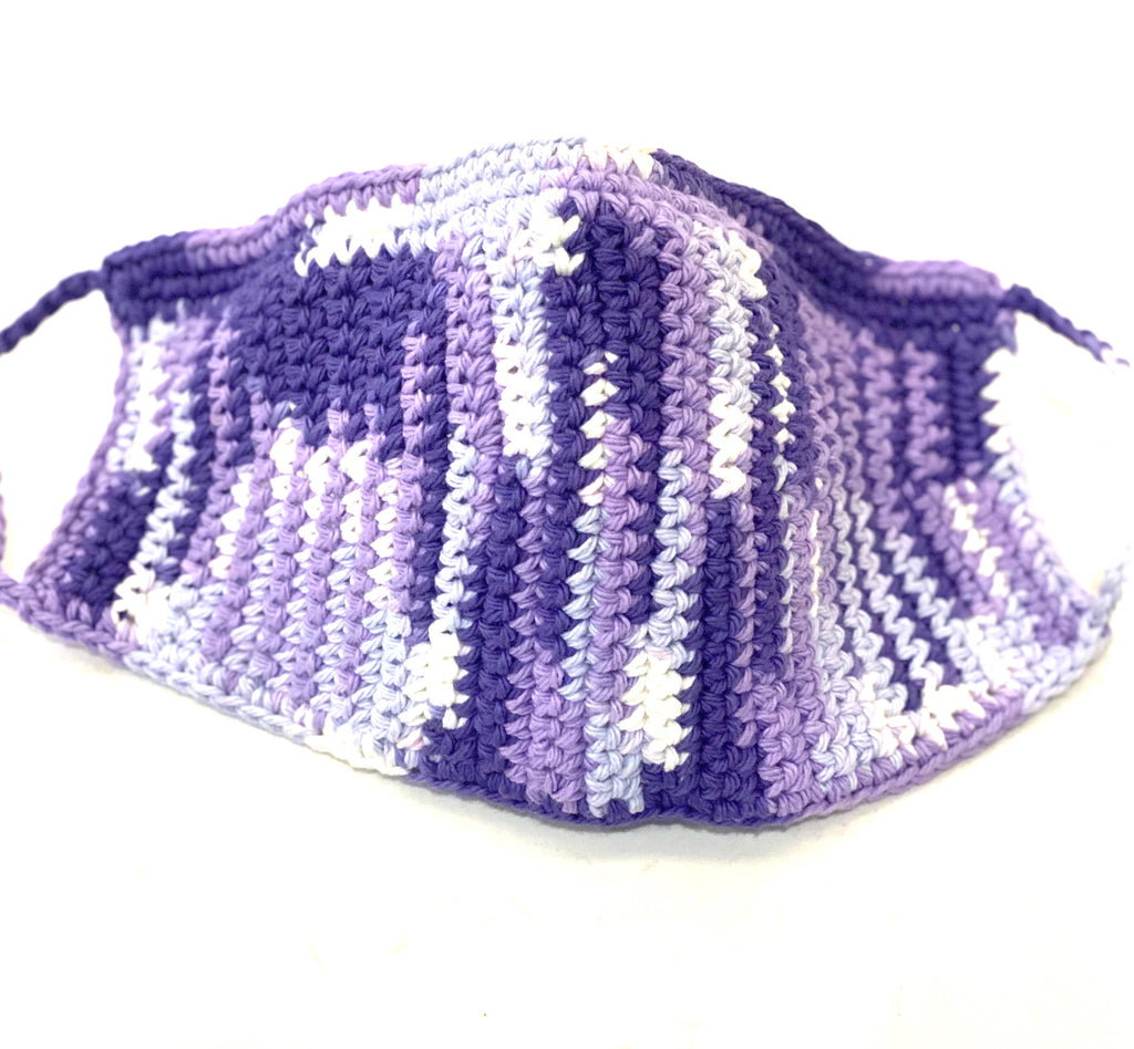 Face Covering Crochet Purple Multi color