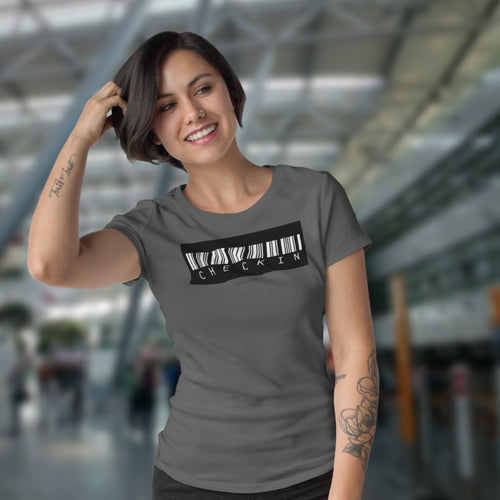 CHECKIN-Ladies Shirt - myaviationshirt