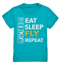 Laden Sie das Bild in den Galerie-Viewer, EAT, SLEEP, FLY, REPEAT Kids Shirt