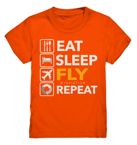 EAT, SLEEP, FLY, REPEAT Kids Shirt