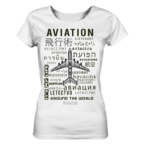 AVIATION around the world-Ladies Shirt - myaviationshirt