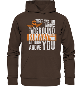 THREE AVIATION NO GO'S - Premium Unisex Hoodie