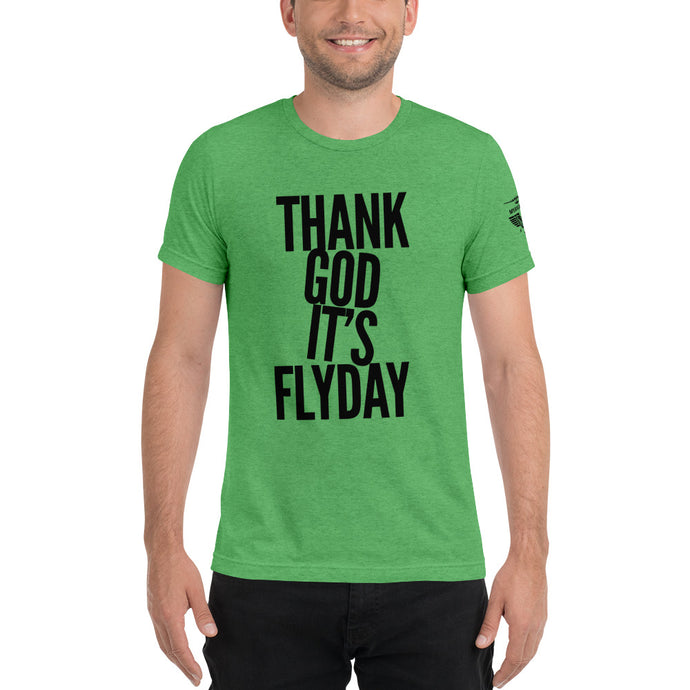 THANK GOD IT'S FLYDAY - Piloten und Enthusiasten T-Shirt - myaviationshirt