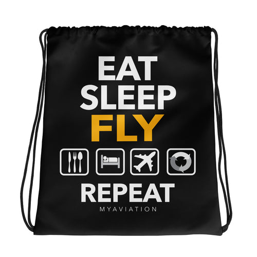 Drawstring Bag Eat-Sleep-Fly