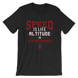 SPEED IS LIFE - Piloten T-Shirt - myaviationshirt