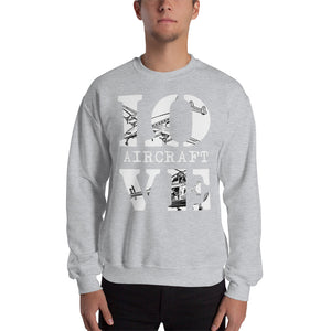 LOVE Aircraft Sweatshirt UNISEX - myaviationshirt