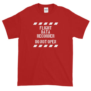 Flight data recorder T-Shirt. Flugdatenschreiber