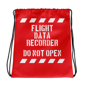 Drawstring Bag FLIGHT DATA RECORDER