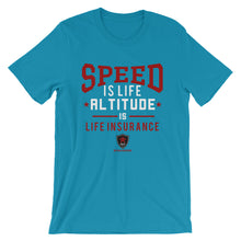 Laden Sie das Bild in den Galerie-Viewer, SPEED IS LIFE - Piloten T-Shirt - myaviationshirt
