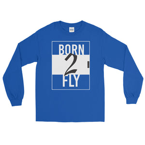 BORN2FLY - Langarm T-Shirt - myaviationshirt