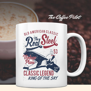 REAL STEEL CLASSIC LEGEND - Coffee Mug - myaviationshirt