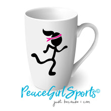 Peace Girl Runner on Mug