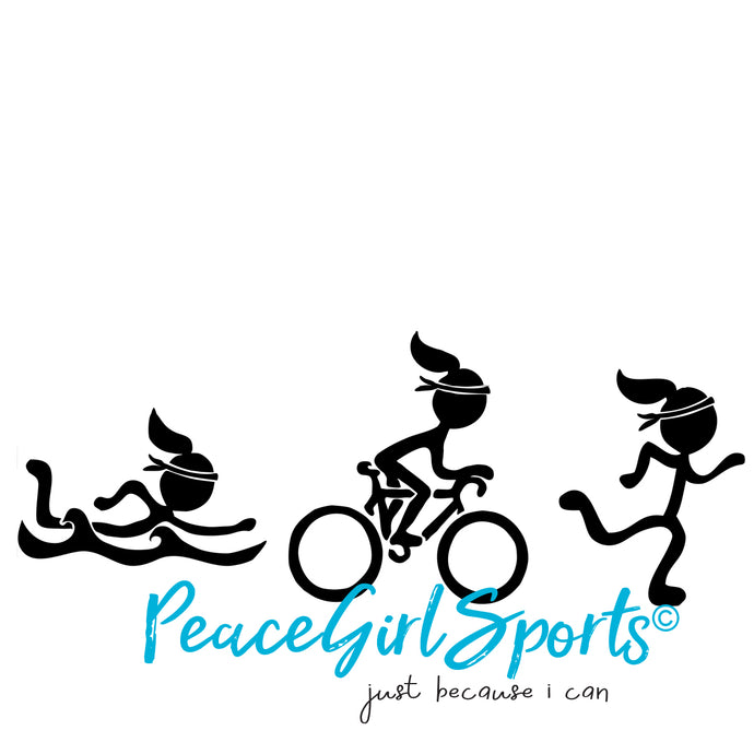 Peace Girl Triathlete -Swim Bike Run