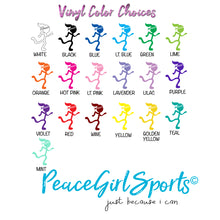 Peace Girl Runner Happy Trails Decal