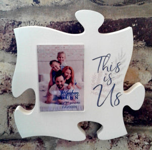 Interlocking 6x6 puzzle piece frames