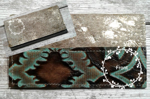 Dancing Cactus Leather Checkbook Covers