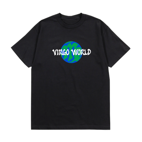 Black Virgo World Globe T-Shirt