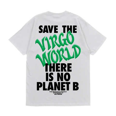 White Virgo World Globe T-Shirt + Digital Album