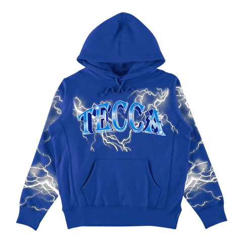 Tecca Lightning Hoodie Blue + Digital Mixtape