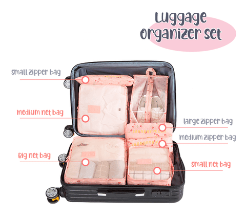 Travel Storage For Luggage Sorting (Set Of 6)