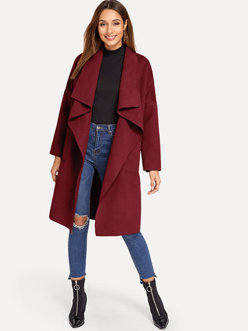 Pocket Front Waterfall Coat
