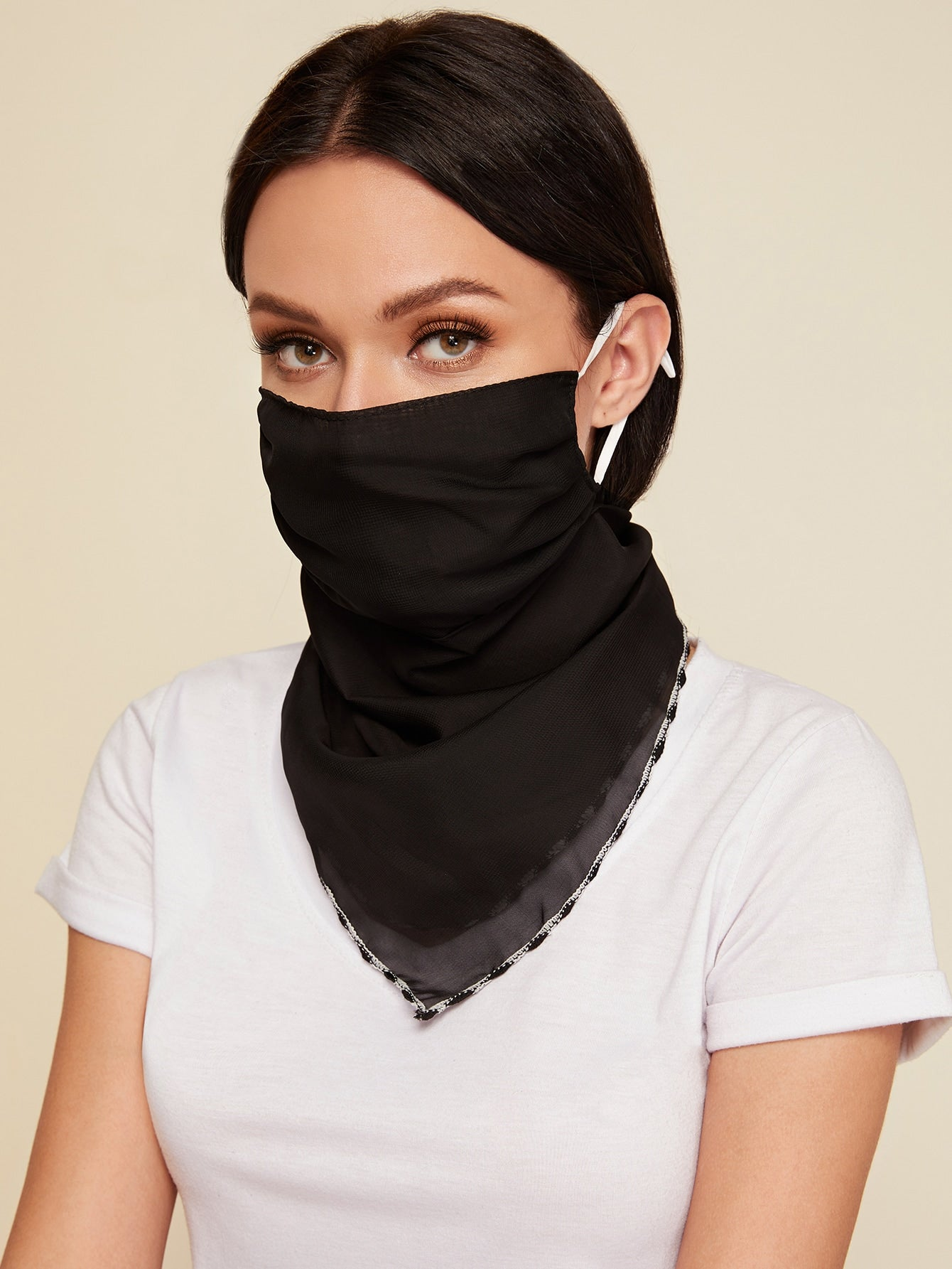 Stylish Contrast Sun Protection