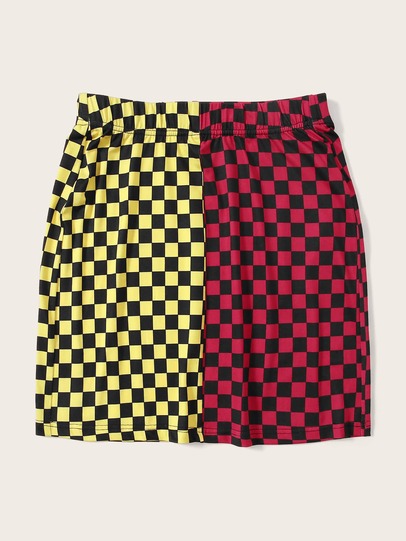 This Or That Checkered Skirt