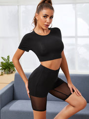 Basic Mesh Biker Shorts Set