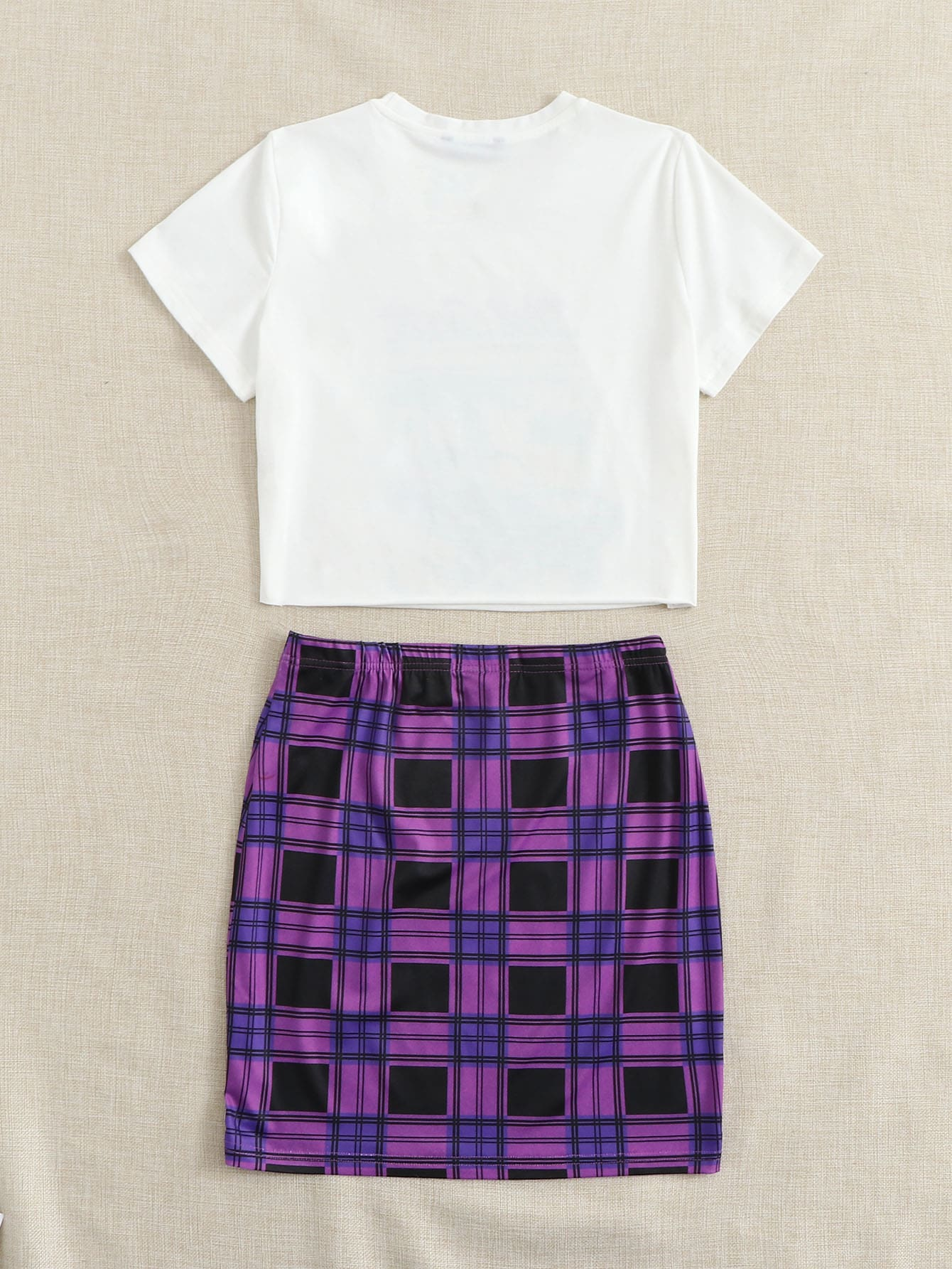 Plaid Skirt Set