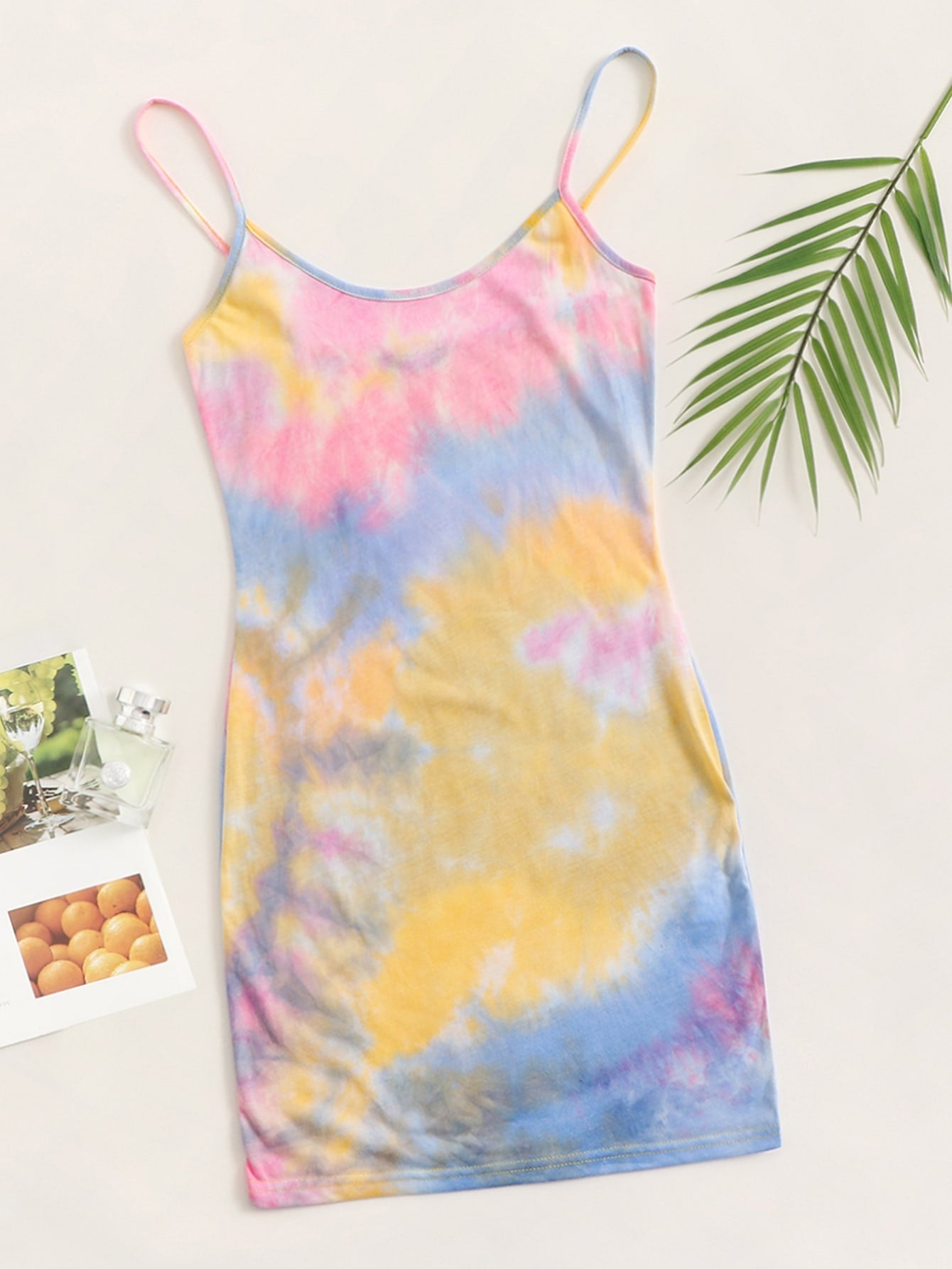 Rib-knit Tie Dye Bodycon Dress