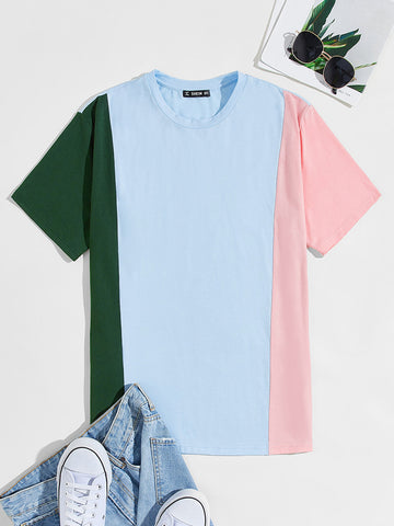 Cut And Sew Colorblock Top